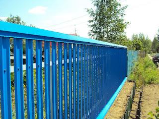 Забор штакетник из профлиста. Фото 15