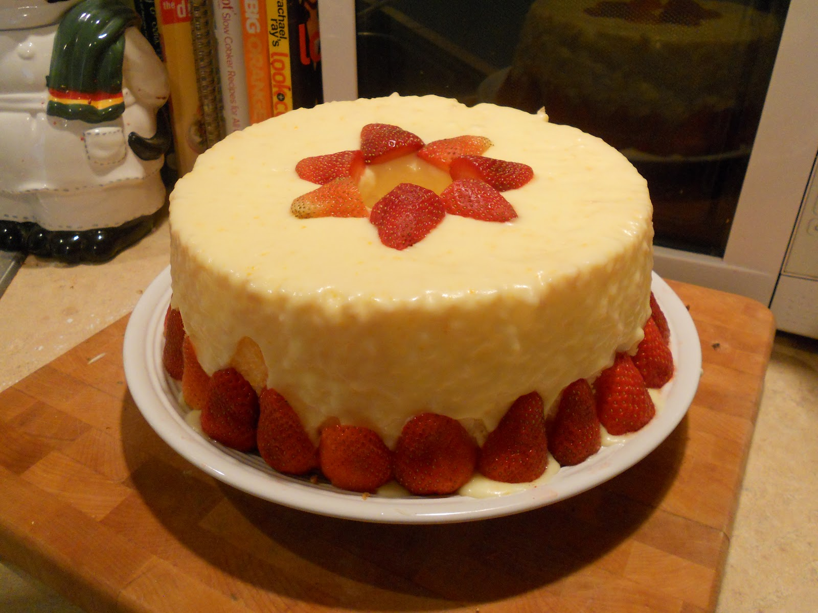 ... Emily: Angel Food Cake With An Orange Glaze with Fresh Strawberries