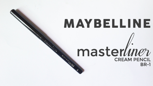 Maybelline Masterliner Cream Pencil BR-1 (Swatch and Review)