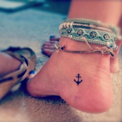 I ♥ this spot for a little tattoo. I don't really like the idea of having an anchor on my body, though.