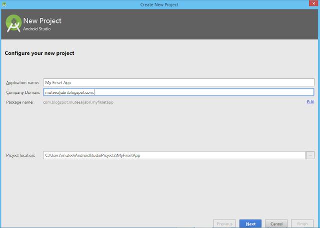 أنشاء,أول تطبيق اندرويد, في ,اندرويد استديو ,Android Studio