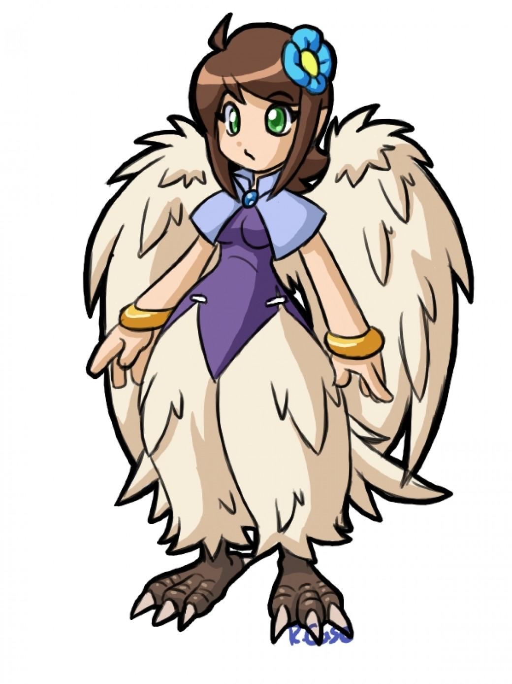 random Harpy girl doodle por rongs1234