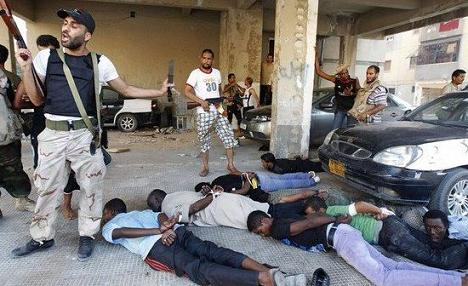US Backed Terrorists Mass Murder Unarmed Civilians in Syria LibyaRebelsRoundingUpBlacks