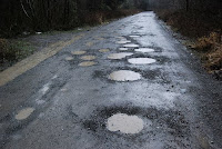 Lots of potholes