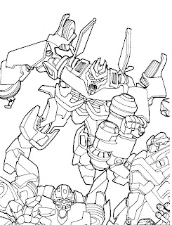 Desenhos do Transformers para pintar e colorir