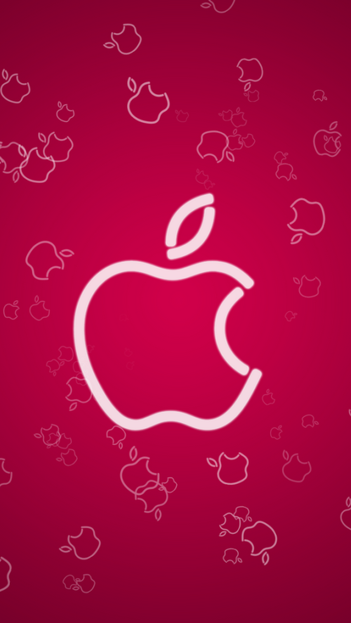 iPhone 5 HQ Wallpapers: Apple Logo Design Dark Red iPhone ...