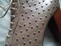 Studded platform boots