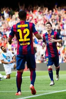 اهداف مباراة برشلونة و ديبورتيفو لاكورونا -|| الدورى الاسبانى 23-5-2015