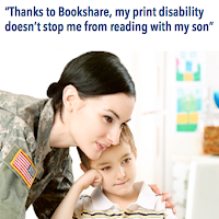 Stock photo of a US female soldier in uniform leaning over a child who sits at a desk in front of an open laptop. The woman and the child are looking at the screen.