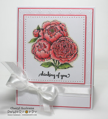 Power Poppy, Dynamic Duos – Peonies and Tulips, CherylQuilts, Designed by Cheryl  Scrivens