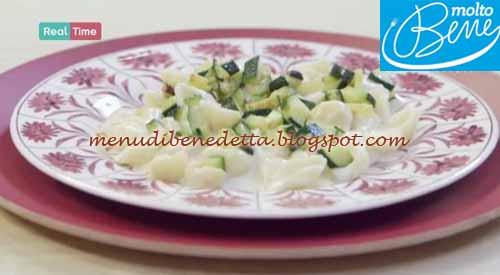 Conchiglie con fonduta di parmigiano e zucchine ricetta Parodi per Molto Bene