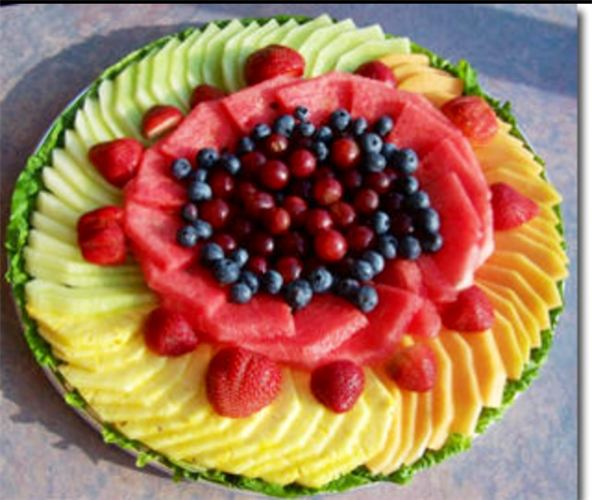 Fruit salad decorations easy arts and crafts ideas for Decoration fruit