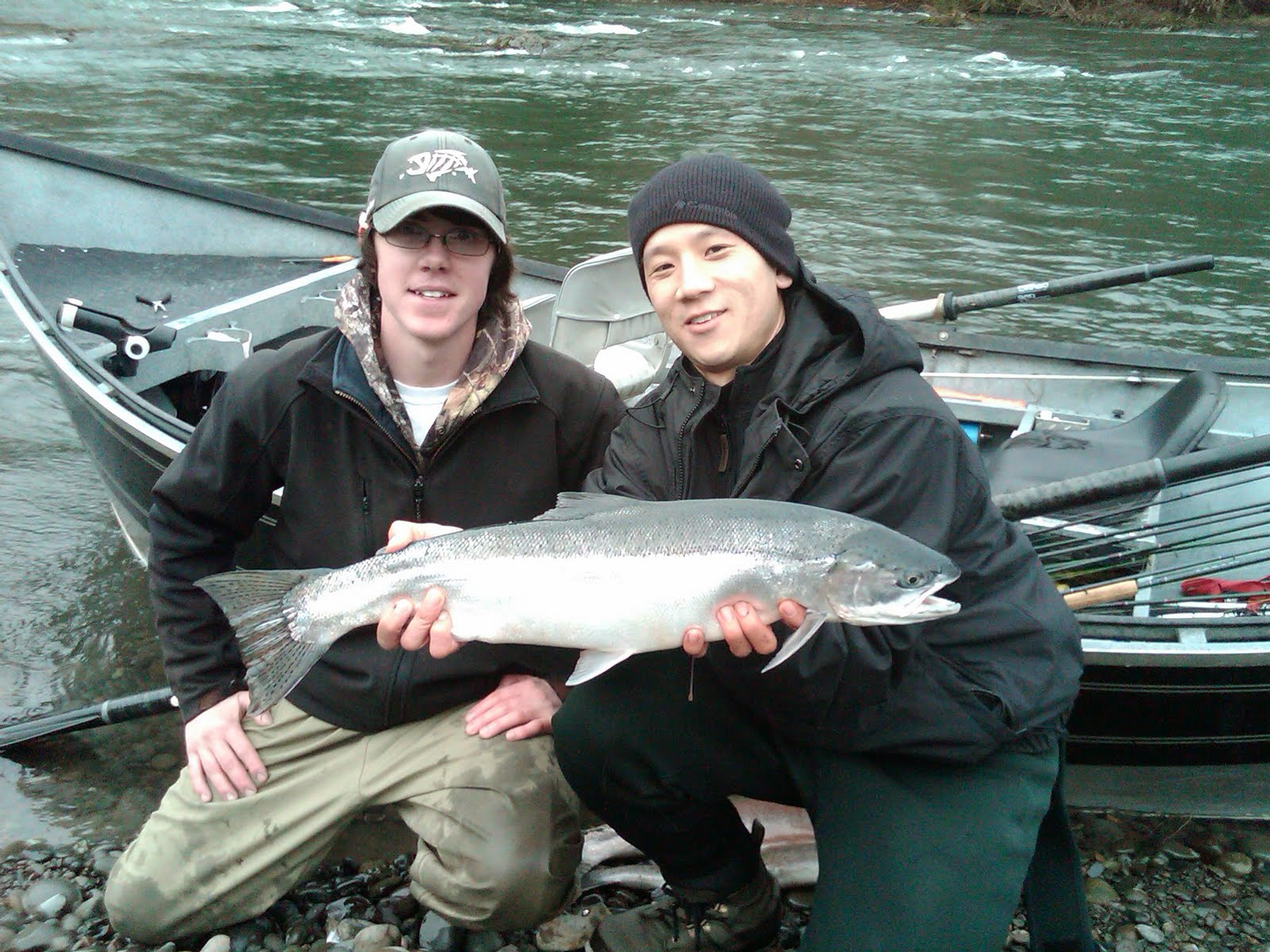 Forks fishing guide jason ray a beautiful winter day on for Sol duc river fishing