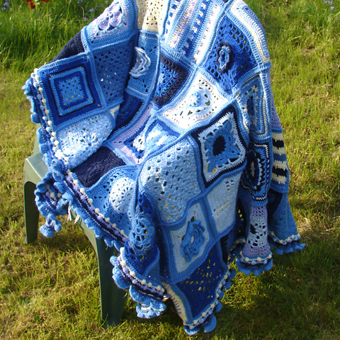 200 Crochet Blocks Afghan