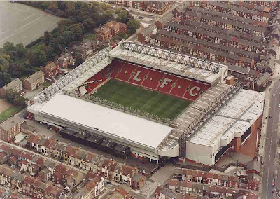 Estadio de Anfield en Liverpool