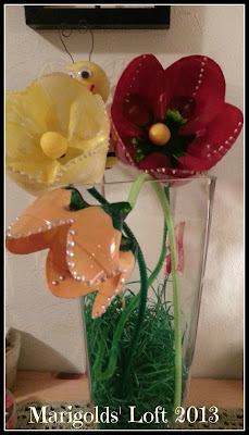 recycled flowers PET