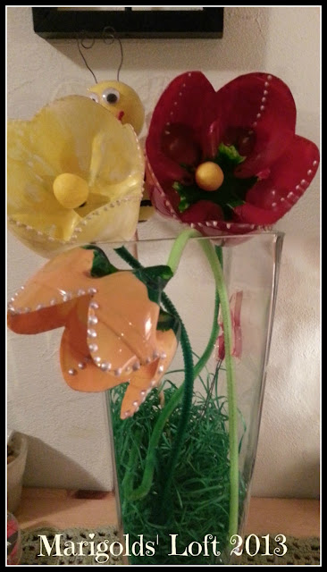 recycled crafts tulips gonis