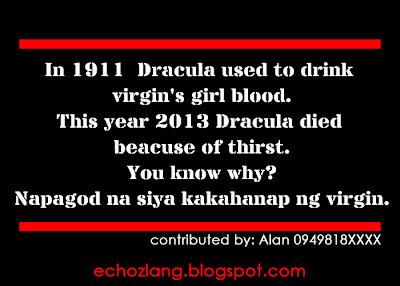 Napagod na si Dracula kakahanap ng makakain