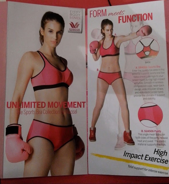 Philippine Wacoal Corporation launches the Unlimited Movement Sports Bra Collection.