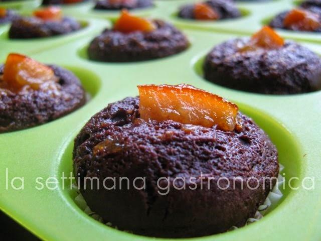 Mini muffins cioccolato e arancia