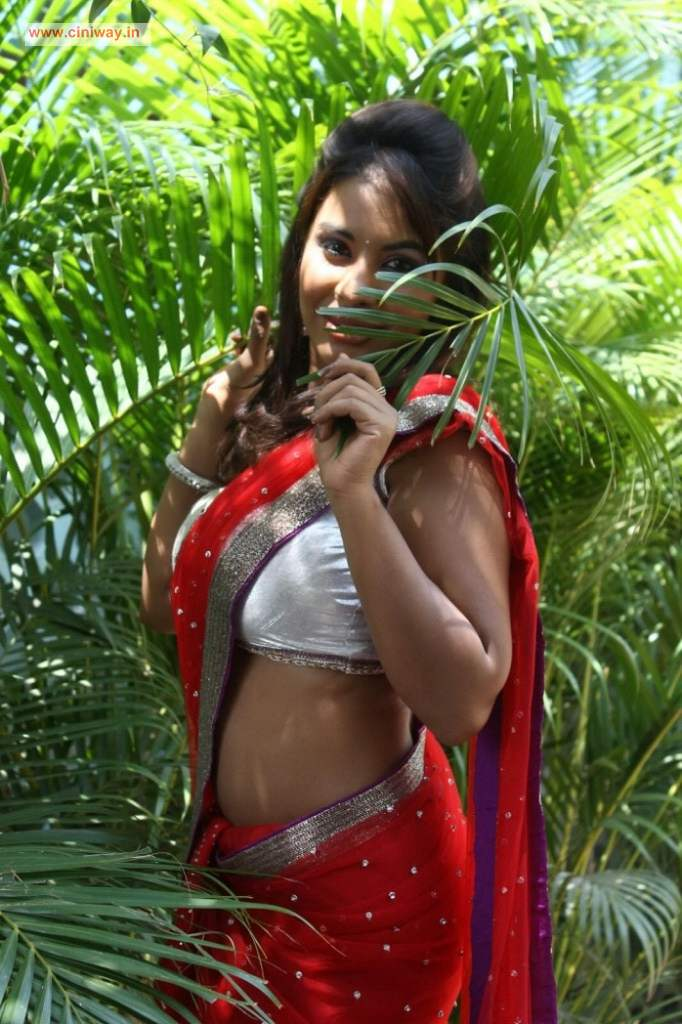 Actress-Sri-Reddy-Stills-in-Red-Saree