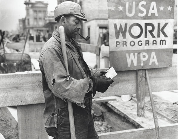 a history of the works progress administration wpa of roosevelts new deal For an average salary of $4157 a month, wpa employees built bridges, roads,  public buildings, public parks and airports.