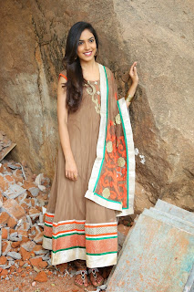 Ritu Varma in cute Salwar Suite at her upcoming Telugu movie launch event