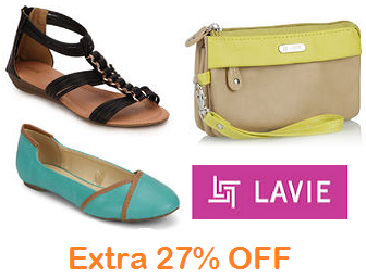 Jabong: Buy Lavie Sandals, Shoes, Wallets at Extra 27% OFF
