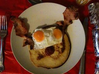 Bacon Rudolph pancakes