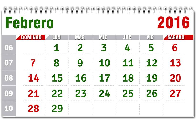 Calendario ¡VIVA MÉXICO! 2016 - Calendarios para Photoshop gratis.