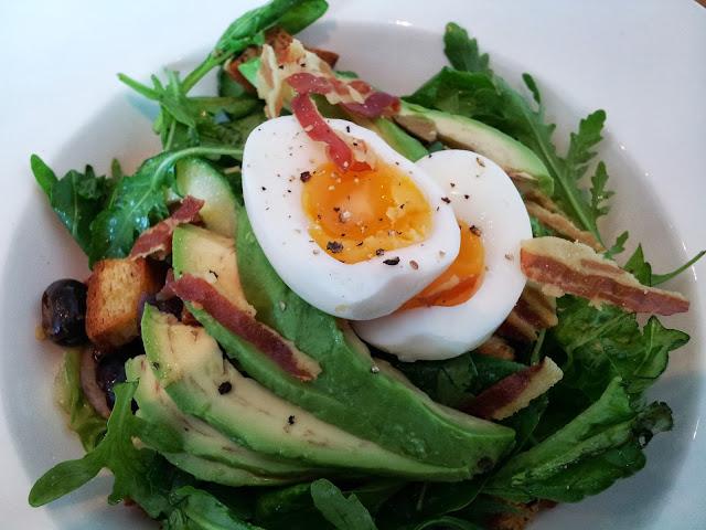 Blooms Folkestone Avocado and Pancetta Salad