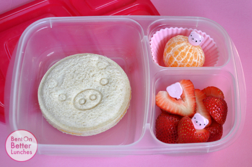 Pig bento school lunch