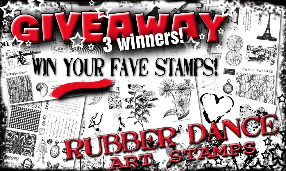 Giveaway by Rubber Dance Stamps