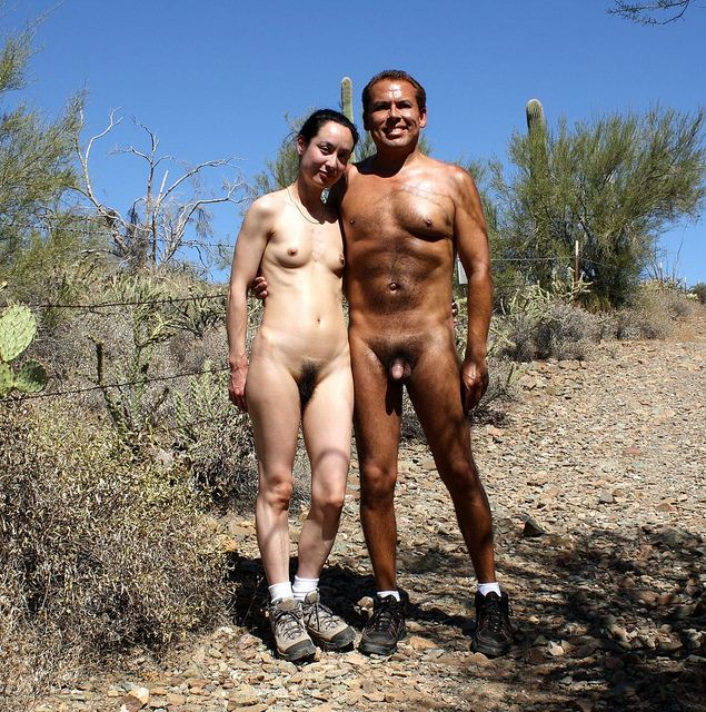 Guy naked in field