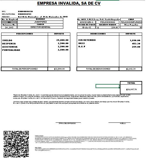 Cfdi comprobante de nomina cfj consultores Formato para pago de nomina