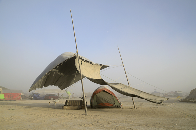 More and more popular and visible on the Playa these All-season Kodiak Flex-Bow canvas tents will keep you dust-free without back pain. & This is Black Rock City: 37/Tents-1