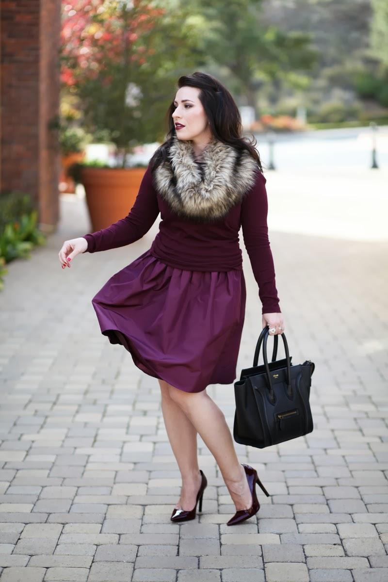 jcrew-silk-tafetta-dress-faux-fur-infinity-scarf-san-diego-fashion-blogger-king-and-kind