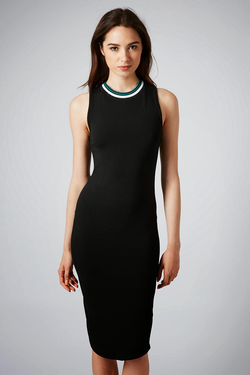 black tube midi dress
