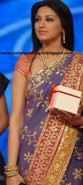 indiangoldesigns.com: Sonali bendre in kundan jewellery ...