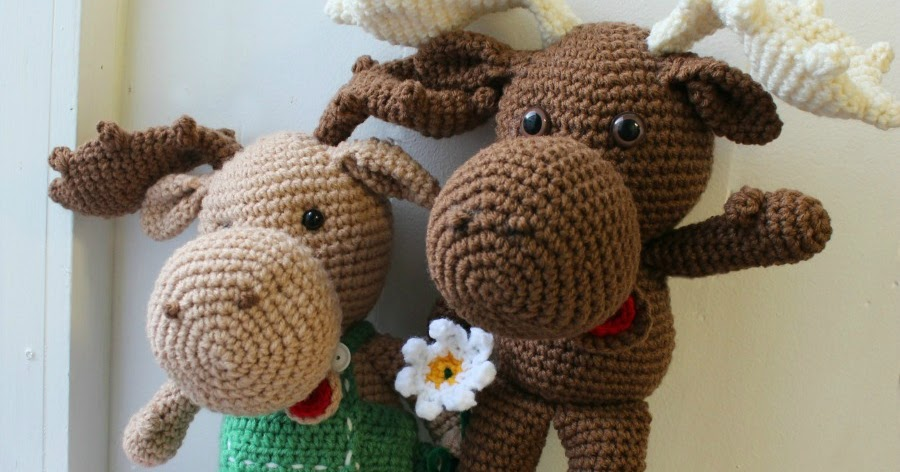 Free Knit Amigurumi Patterns : Large Crochet Moose Free Pattern ~ Amigurumi To Go