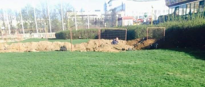Гагаринский: незаконные работы в парке 40-летия ВЛКСМ