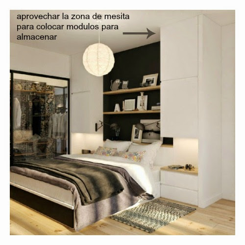 Dormitorio pequeno decorar tu casa es for Ideas para un cuarto pequeno
