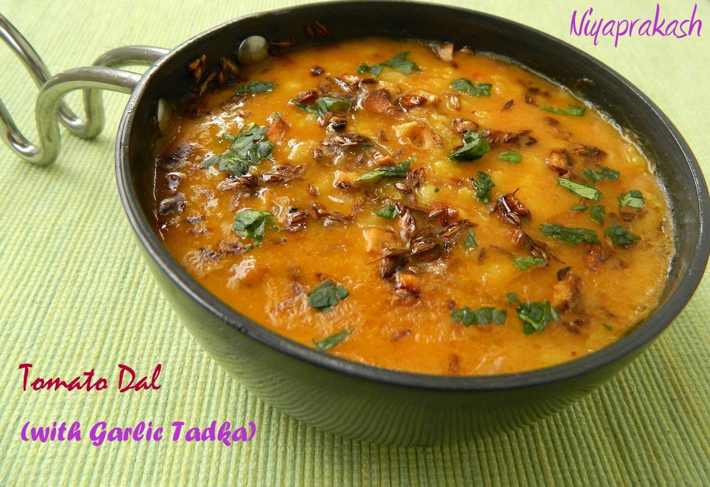 Niya's World: Tomato Dal (with Garlic Tadka)
