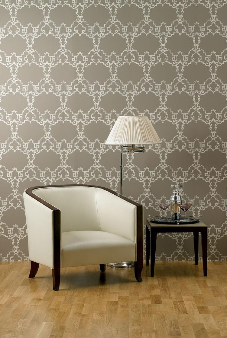 Wallpaper by designer nina campbell interiors and design for House interior design wallpapers