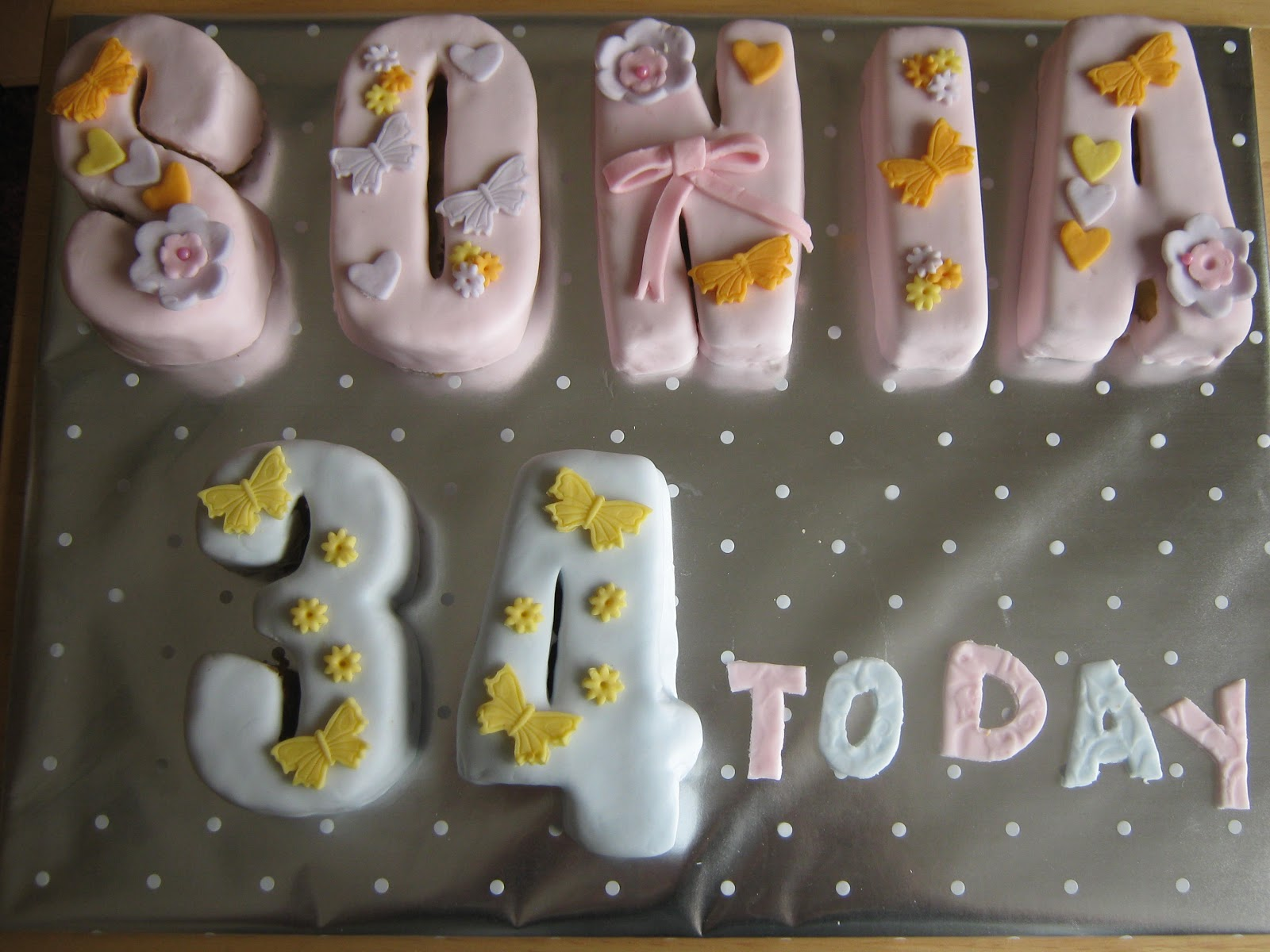 Cake Images With Letter S : Magic Lady Cakes: Birthday Letter Cakes