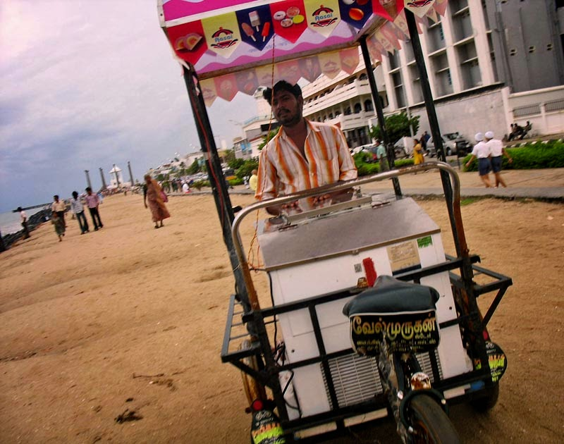 Ice-cream cart on the beach