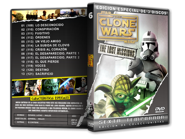 Capa DVD Star Wars The Clone Wars Sexta Temporada