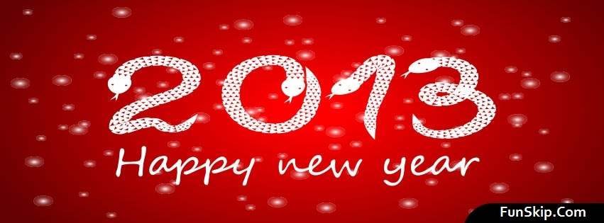 2013 Happy New Year Figures Facebook Profile Timeline Cover Photo Free