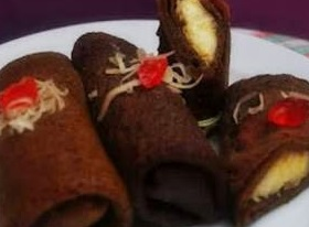 Resep Dadar Gulung Pisang Coklat