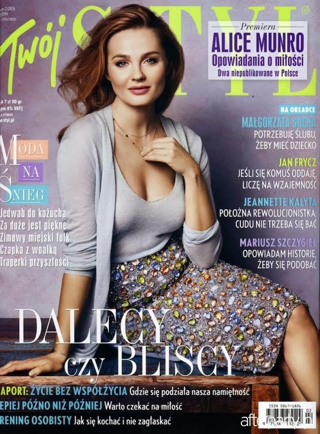 Magazine Cover : Malgorzata Socha Magazine Photoshoot Pics on Twój Styl Magazine Poland February 2014 Issue